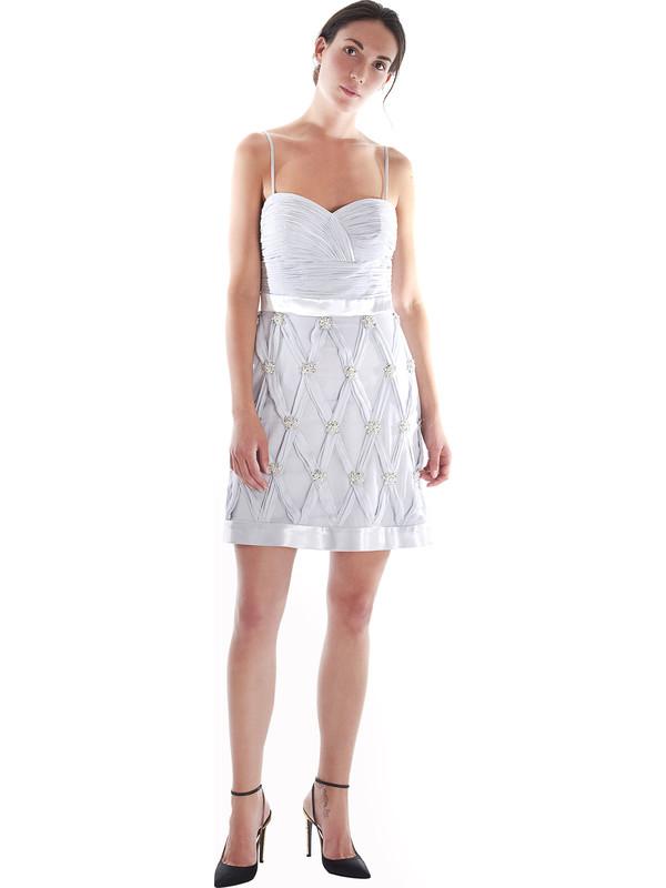 huge discount 1515e b4fe4 Vestito cerimonia donna Pastore Couture color ghiaccio con ...