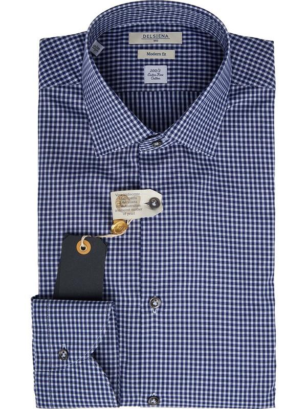 nuovo concetto 19c15 7cf1e Camicia uomo a quadri 100% cotone Delsiena