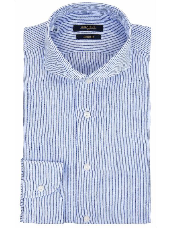 Camicia lino righe Modern Fit DelSiena