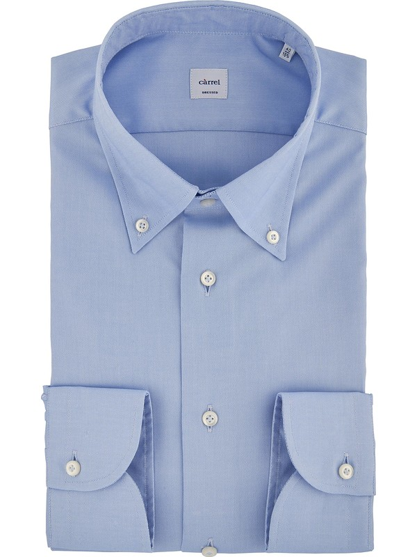 comprare on line 33777 bc236 Camicia Càrrel azzurra classica collo button down