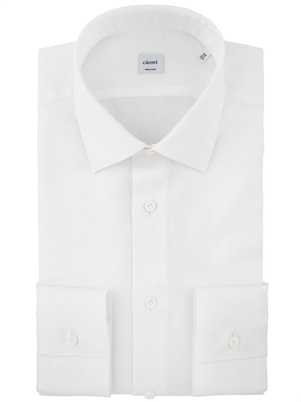 rivenditore all'ingrosso 01d22 36a51 Camicia Càrrel bianca in puro cotone doppio ritorto
