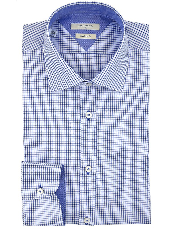 1d0533f014a26 Camicia DelSiena quadretti collo Italiano Made in Italy
