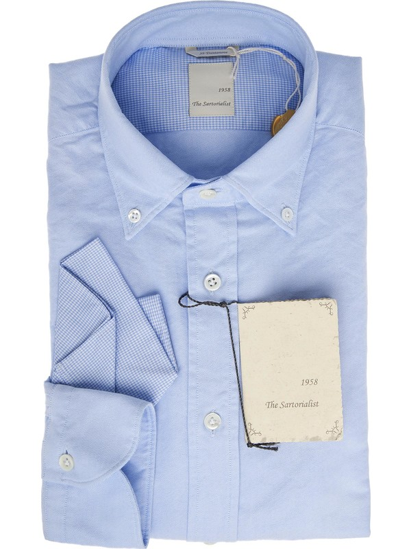 competitive price 45146 a463a Camicia sportiva azzurra con collo button down The Sartorialist