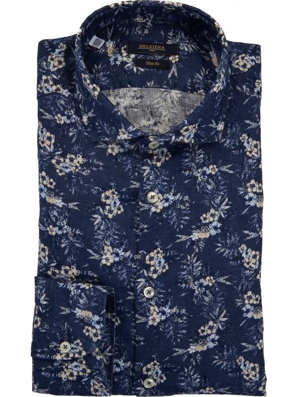 Camicia a T a fantasia floreale in doppio tessuto