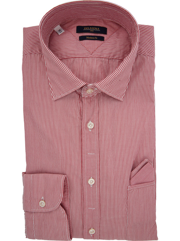 design di qualità f598d 1c446 Camicia da uomo Delsiena a righe bianche e rosse con ...