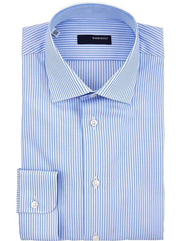 Barbarigo camicia righe collo italiano piccolo 100% cotone