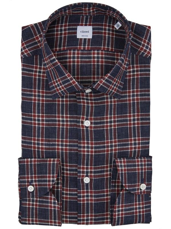 55e0c651efb454 Càrrel chemise à carreaux 100% lin