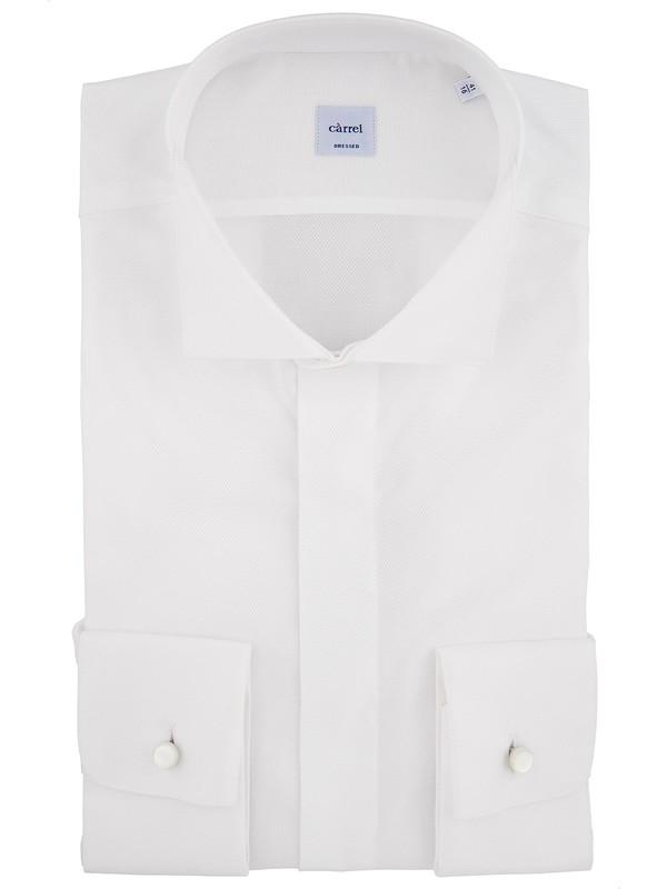 acheter en ligne grande qualité vente chaude authentique Càrrel - Chemise cocktail blanche, tissu satiné