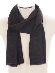 Rosi Collection. Classica sciarpa da uomo blu e marrone double face 84c245a2ca99