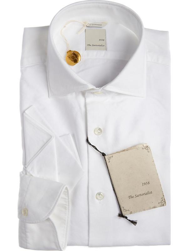 The sartorialist white elegant italian shirt 100 cotton for White cutaway collar shirt