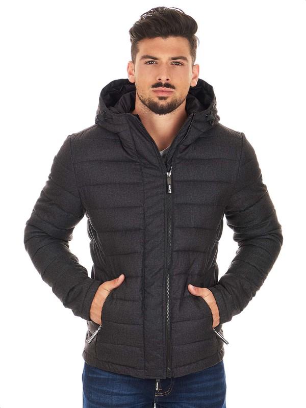 Superdry black Tweed jacket