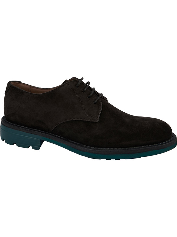 Derby Schuhe aus braunem Leder in Italien produziert Campanile