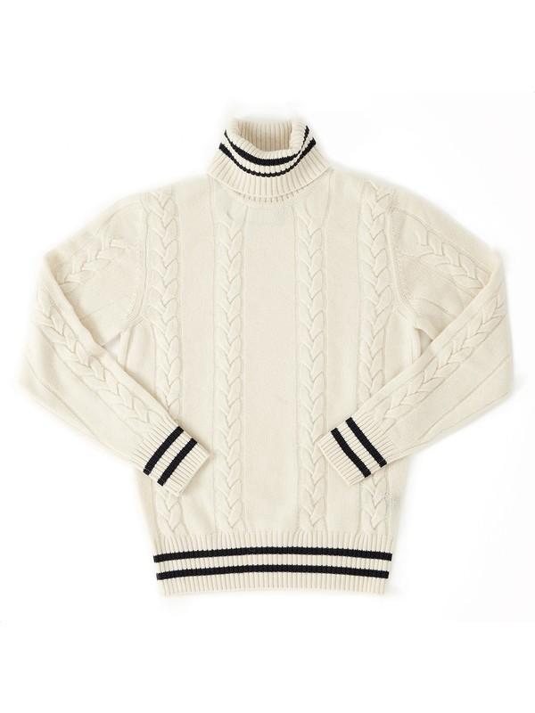 nuovo concetto be598 936ad Maglia bianca cashmere da uomo - +39 Masq