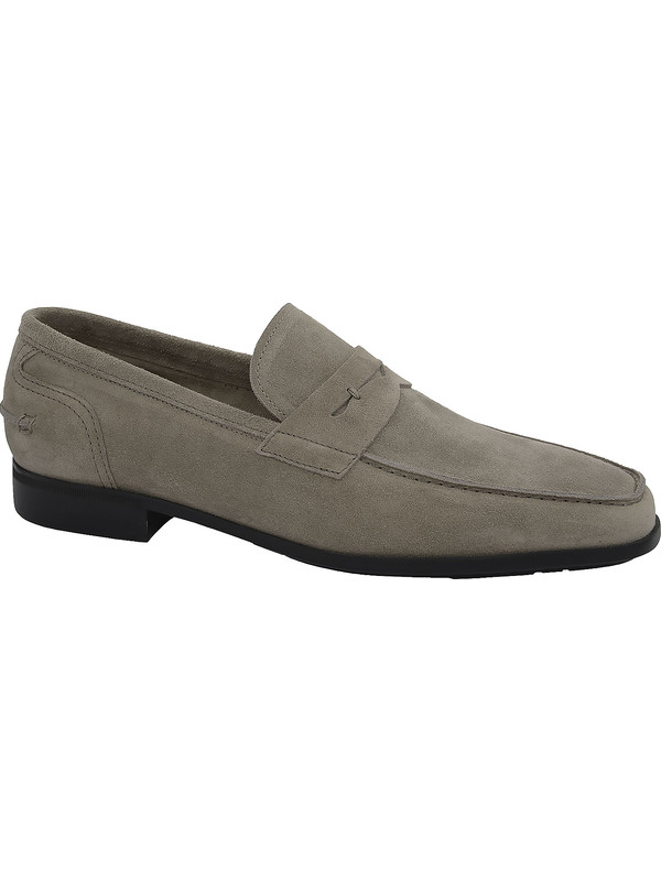 Men's loafers in gray suede by J. Holbens