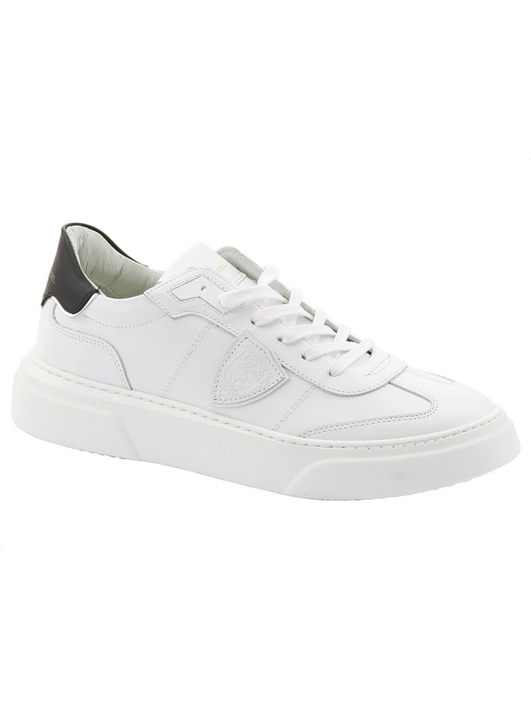White men's sneakers in real leather