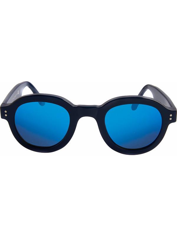 Occhiali da sole con lenti a specchio per uomo - Occhiali specchio blu ...
