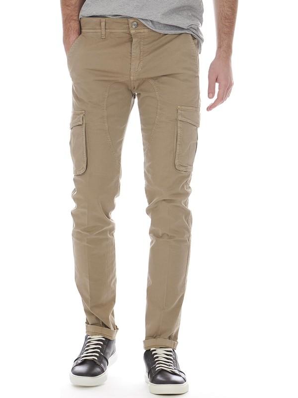 Pour Homme Beige Exibit Latérales Pantalon Poches Avec Ybygf67
