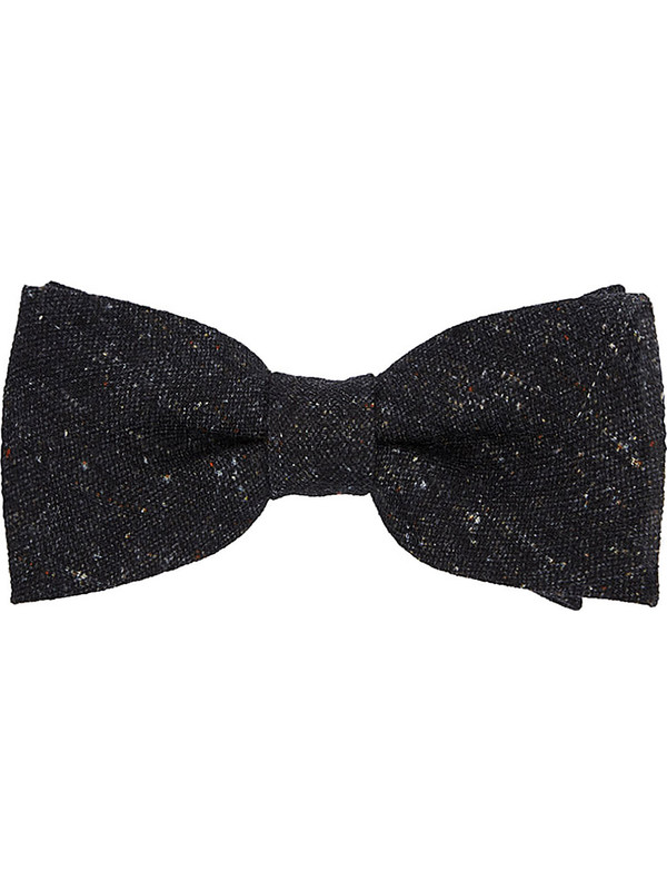 3ed2de61830 Dark grey mélange bow tie for men - Rosi Collection