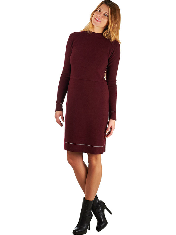 official photos 9ed8e 1dd1d Vestito donna rosso lana merinos cashmere Mariani Made in Italy