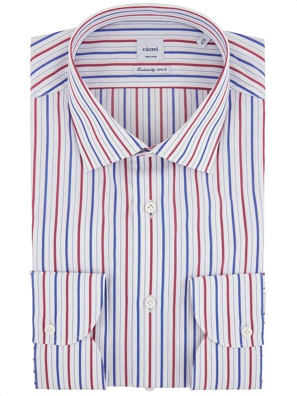 size 40 f7214 e7a37 Gestreiftes Herrenhemd mit Kent-Kragen - Càrrel