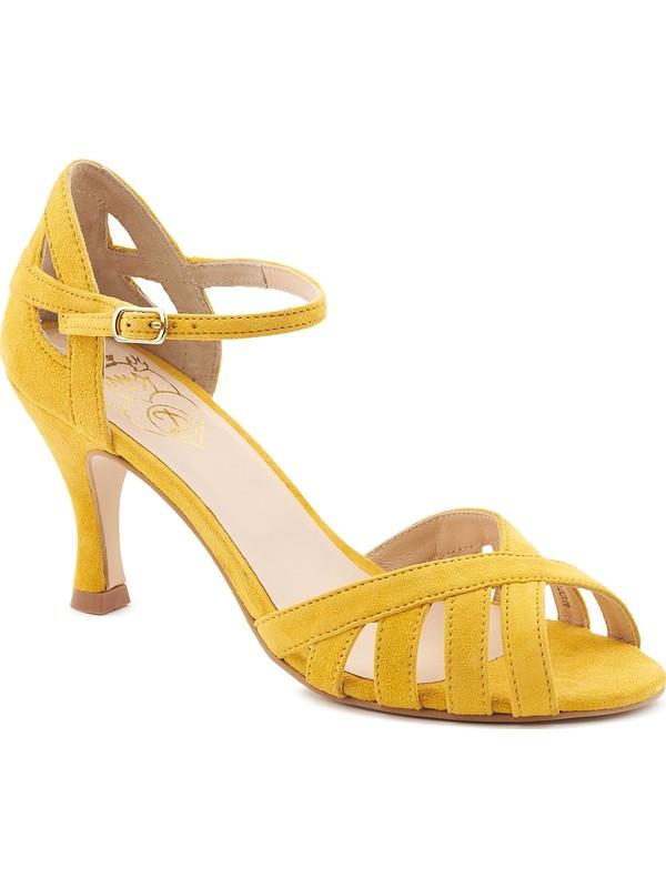 DORA - Yellow Latin dance shoe